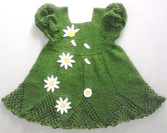 hand made knitted dress for girl