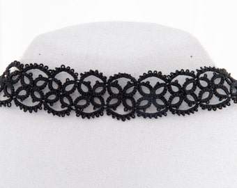 black tatted choker