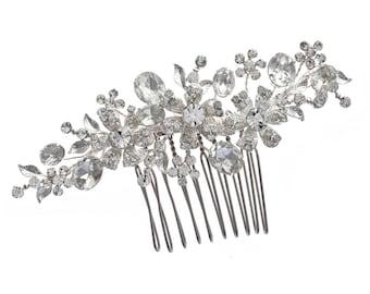 Crystal Daisy Hair Comb