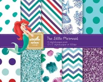 The Little Mermaid Digital Paper