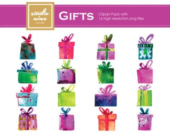 Gifts Clipart Set
