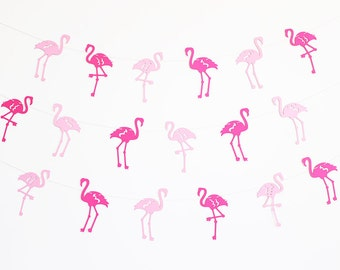 Flamingo Party Banner - Customizable Colors