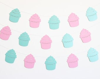 Cupcake Party Banner - Customizable Colors