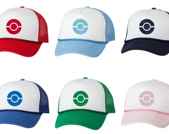 Embroidered Pokemon Trainer Hats