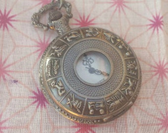 Zodiac Pocket Watch Necklace