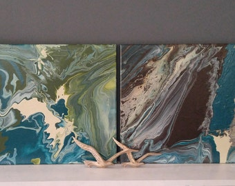 Ebb and Flow 1&2 -- Prints of Original Art
