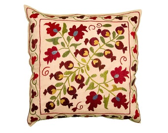 Cushion Cover - VINTAGE SUZANI DESIGN 8 - 40 x 40