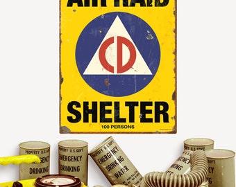 Air Raid Shelter Civil Defense Wall Decal - #57810