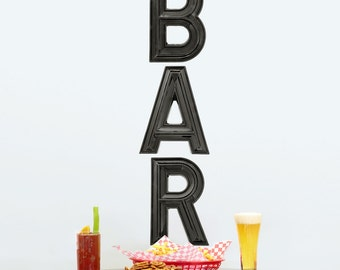 BAR Marquee Letters Wall Decals Vertical - #54556