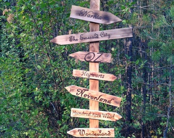 Whimsical Sign post