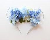 Wendy Darling Inspired Flower Crown Minnie Ears