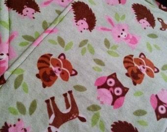 Burp Cloths-2 Pack Forest Animals-Girls