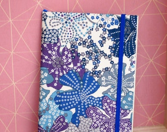 Notebook Liberty of London blue Mauvey with blue elastic