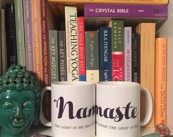 Namaste // Coffee Mug // Gift Idea // Yoga // Tea // Gifts for Her // Gifts for Him