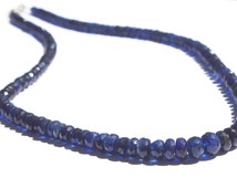 Ink blue sapphire necklace natural Silver / natural gemstone necklace / birthstone Exclusive