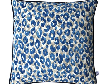 BLUE KITTY Square Leopard Print Outdoor Cushion Pillow Cover