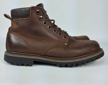 Size Mens 9  - Leather Alp Boots - Vintage Brown Ankle Boots - US Mens 9