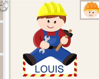 Wall decal workman