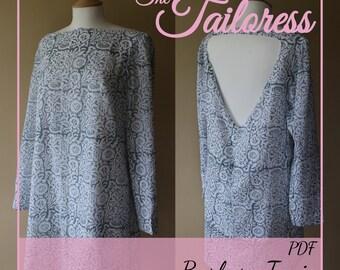 Barbara Tunic PDF Sewing Pattern Dress Womens Womenswear PDF Sewing Pattern Digital ePattern Instant Download- Sizes 4-18