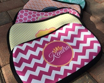 Monogrammed Cosmetic Bag Make-Up Bag, Bachelorette Gift, Bridesmaid Gift, Zip Up Cosmetic Bag