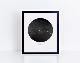 Pisces Constellation Art Print • Buyable Frame Option