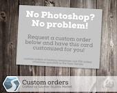 Custom First Birthday Trading Card