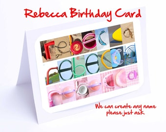 Rebecca Personalised Birthday Card