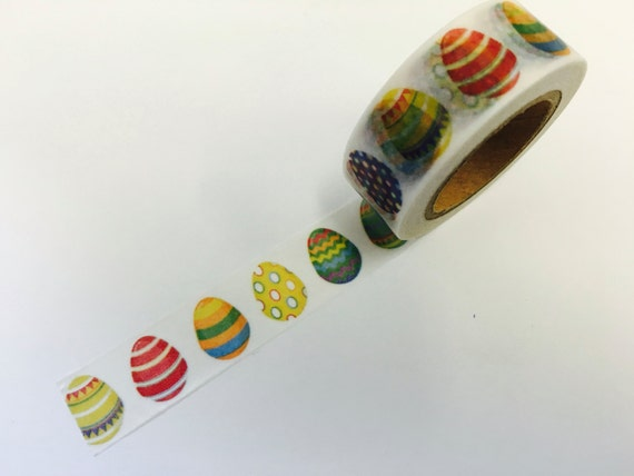 Patterned Easter Eggs Washi Tape Scrapbooking Decoration