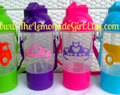 PERSONALIZED Sippy Cup, Personalized Water Bottle, Dinosaur Birthday Party Favor, Truck Party Favor, Kids Party Favor, Lot of 5