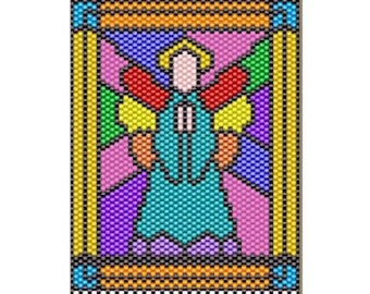Angel of the Rainbow Beaded banner pattern