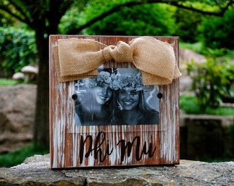 Phi Mu Whitewashed Rustic Frame