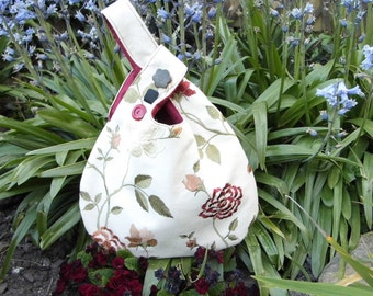 Embroidered Japanese knot bag