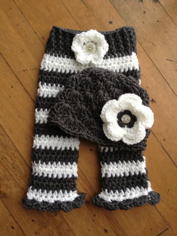 Items Similar To Newborn Shell Hat And Pants Set For Girl