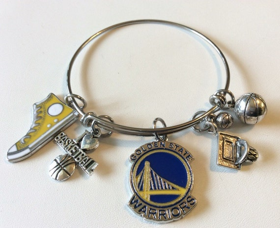 handcrafted nba golden state warriors charm by the2randies