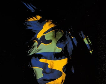 ANDY WARHOL - 'Self portrait (Camouflage)' - rare offset lithograph - c1989 (official Warhol foundation print)