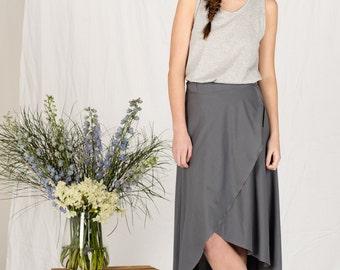 SALE!! Organic cotton knit wrap skirt
