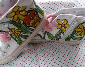 Hand Painted Fairy Shoes Size 9