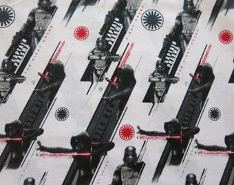 "1/2 yard of 100% cotton ""The force awakens"" Star wars fabric"