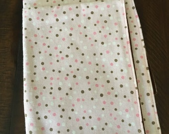 Inventory sale: Pink and brown mini dots security blanket