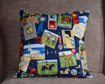 BESPOKE Horse Gymkhana Cushion Cover - One Off Cushion Cover - Horses & Ponies