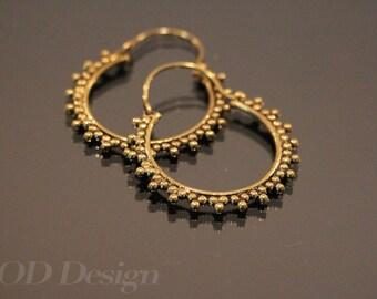 Stunning hoop earrings