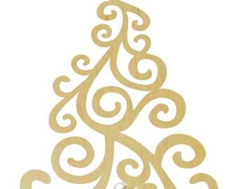 Christmas Tree Wooden Shape - Unpainted