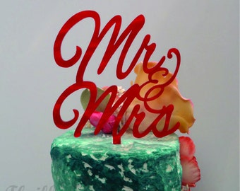4 inch Mr and Mrs Cake Topper - Wedding, Celebrate, Party, Cake Decoration
