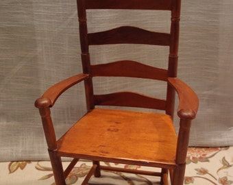 Wooden LadderBack Doll Chair