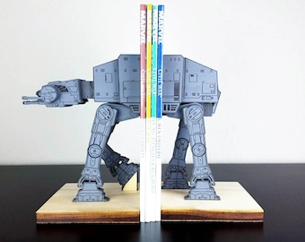 AT-AT on a leash StarWars Star Wars Bookends - Gray
