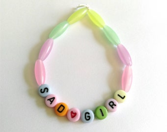 Sad Girl Beaded Bracelet
