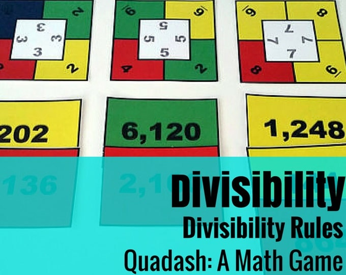 Divisibility Quadash Math Game: A Fun Way to Practice Divisibility Rules