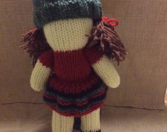 Polly doll with beanie hat (removable)