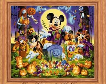 Disney Heroes 17 - Disney Halloween 3, cross stitch pattern, cross stitch disney, cross stitch halloween, PDF pattern, instant download!