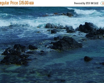 ON SALE Color Photo of the Blue Green Ocean Waters of Summertime Hana, Maui - Hawaii Photography Art Fine Print 8 x 10 Matte Print